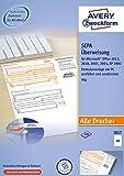 AVERY Zweckform 2817 Sepa-Überweisung, (A4, 100 Blatt, inkl. Software-CD) weiß