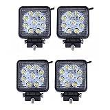 SAILUN 4X27W LED Faro da lavoro, Fari per fuoristrada Faro anteriore,IP67 Impermeabile 12V 24V Luce retromarcia, Trattore per auto SUV ATV UTV (4 * 27 W, Piazza)