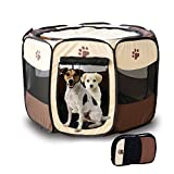 Dogs Cats Playpen Exercise Kennel Portable Foldable Pen for Travel Outdoor Yard