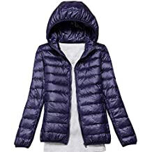d0433d9d0bf1 AnyuA Femme Grande Taille Légère Doudoune Parka à Capuche Courte Blouson  d hiver Veste Manteaux
