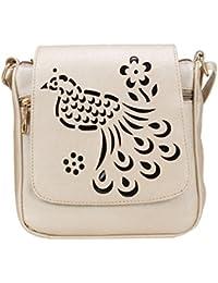 Aadhunik Libaas Peacock Cut Work Party Wear Stylish Sling Bags, Crossbody Bag, Shoulder Bag (Handbag) For Women's...