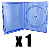 1Gehäuse für Spiel PS4–Blau Transparent–Kauf 1Einheit