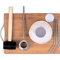 Herramienta de coco con martillo y mango de acero inoxidable de calidad