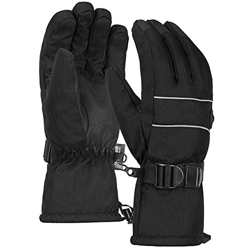 Terra Hiker 3M Thinsulate Skihandschuhe, Herren Wasserdichte Handschuhe für Wintersports (Schwarz, M)