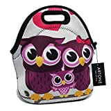 Best Teen Lunch Boxes - Artone Owls Family Insulated Gourmet Lunch Bag Waterproof Review