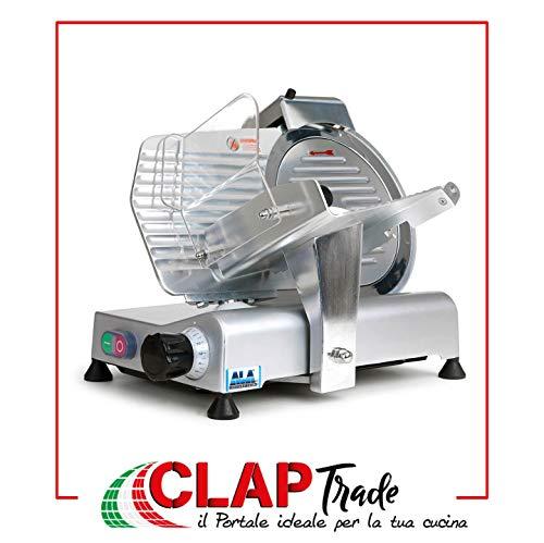"""[displayGallery id=55]La """"SL810""""di ALA2000 è un affettatrice professionale adatta a qualsiasi uso.Ha una lama con un diametro di 250 mm in acciaio temperato e di un motore elettrico professionale ventilato e silenzioso che sviluppa una potenza di 150..."""