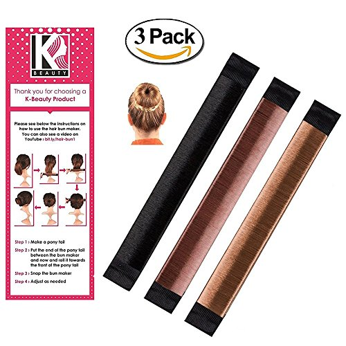Haar Brötchen Damen Haardutt-Binder Hochsteckfrisur Haarspangen von K-Beauty