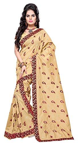 S Kiran'S Silk Saree (Asmugakerired_Beige)