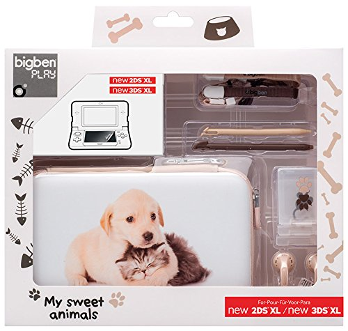 Nintendo New 2DS XL - Starter Pack Essential XL (Baby Animals Hund & Katze)