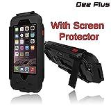 iPhone 5/5s/se support de vélo,Dee Plus Bike Kit & Coque étanche pour iPhone 5/5s/se, Support vélo/guidon pour moto Coque étanche pour 5/5s/se prise en charge de la reconnaissance d'empreintes digitales avec iPhone protecteurs d'écran (Noir)