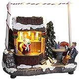 Christmas Concepts 5'/ 13cm LED Illumina la Scena del mercatino di Natale (Cabina del Vino)