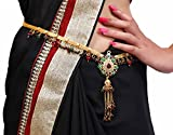 #7: Lucky Jewellery Kamarband Multi-Colour in colour studed with sparkling stones also known as Waist Chain, Hip Chain, Belly Chain, Udiyanam, BodyJewellery, Waist Belt