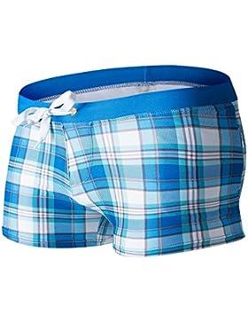 Lelefish hombres cortos de natación Natación sello textura formato pantalones,formato azul,XL