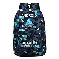 AILIENT Detroit Become Human Casual Backpack New Wild Fashion Backpack Casual Backpack Computer Bag (Color : Blue05, Size : 30 X 13 X 43cm)