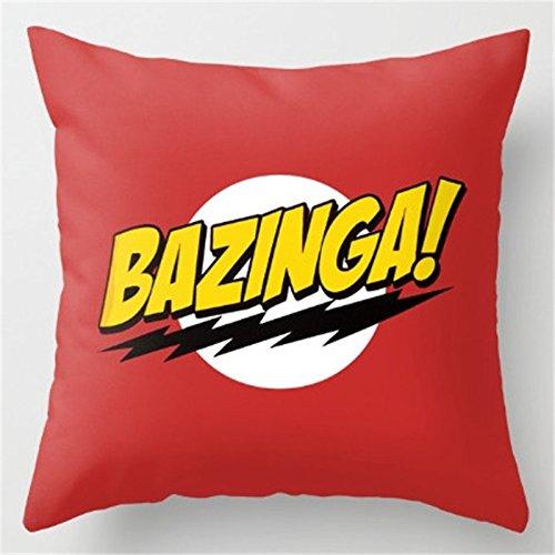 BAZINGA Kissenhülle Big Bang Theory 43x43 cm Zierkissenhülle Sofakissen