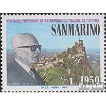 Prophila Collection San Marino 1303 (Completa.edición.) 1984 Sandro Pertini (Sellos