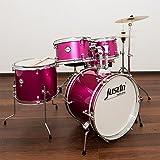JustIn Studio Series Junior 16 Drum Bundle, Kinderschlagzeug, Pink Sparkle