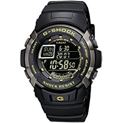 Casio G-Shock Men's Quartz Watch with Black Dial Digital Display and Black Resin Strap G-7710-1ER