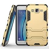SsHhUu Galaxy On 5 Hülle, Stoßsichere Dual Layer Hybrid Tasche Schutzhülle mit Ständer für Samsung Galaxy On 5 2015 (5.0') Gold
