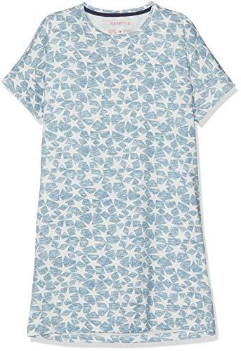 Sanetta Mädchen Nachthemd Sleepshirt Short Allover Blau (Coronet Blue 50301) 152