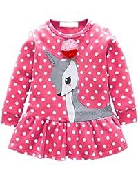 Amazon.es  Rosa - Vestidos   Niñas de hasta 24 meses  Ropa 82123983c207