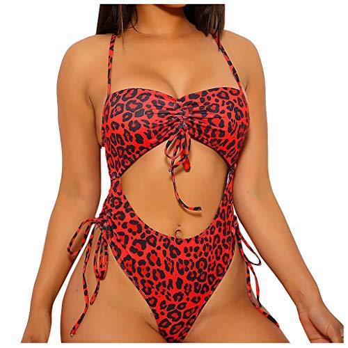 DNOQNFrauen Bikini Solide Einstellen Badeanzug One Piece Gefüllt BH Badebekleidung StrandkleidungBademode im Oversize Look oder Sporlich Chic Tankini Softcup Bandeau