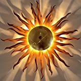 s.LUCE Diator 2.0 Deckenleuchte Sonne, goldfarben, Ø70cm