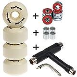 4X FunTomia® Rillen-Profil Skateboard Rollen 53x34mm inkl. Mach1® und 1 Stück T-Tool (All-in-one Werkzeug) / Rollen Ersatzrollen Wheels Härtegrad 100A