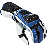 FLM Motorradschutzhandschuhe, Motorradhandschuhe kurz Sports Lederhandschuh 2.1 schwarz/blau 10,...