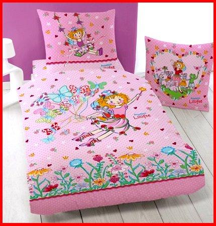 LINON BETTWÄSCHE 135/200 PRINZESSIN LILLIFEE BUTTERFLY NEU/OVP 100% BAUMWOLLE (Prinzessin Butterfly)