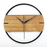 Sunjun Kreative Home Fashion Logs Flüsterleises Minimalist Stil Wanduhr Wohnzimmer Uhr