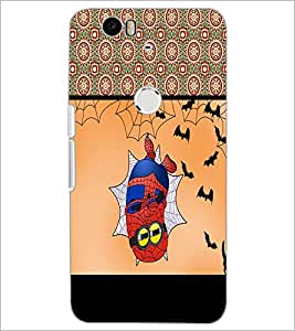 PrintDhaba Funny Image D-4074 Back Case Cover for HUAWEI NEXUS 6P (Multi-Coloured)