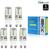 Elinkume® 5Pcs G9 LED 3W Bombilla Regulable G9 Lámpara Bombilla,350LM 7000K Blanco frío, AC220V-240V