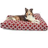 Bild: Majestic Rot Links Große Rechteck Indoor Outdoor Pet Hundebett mit Abnehmbarer waschbarer Bezug Pet Products