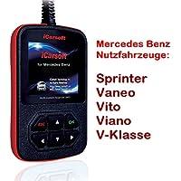 Mercedes Benz Sprinter VANEO Vito Viano classe V dispositivo diagnostico tedesco lettura e codici di errore, airbag, motore, ABS e altri elementi di i980iCarsoft XXLTECH