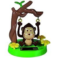 OOTB Swinging Monkey with Solar Panel, Colourful, 10cm