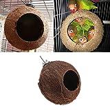 Lunji-Nest Vogel Natur Coconut Shell für Wellensittich Budgerigar