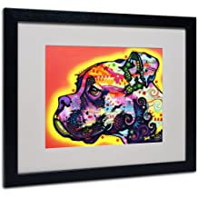 Trademark Fine Art Profile Boxer Matted Artwork by Dean Russo with Black Frame