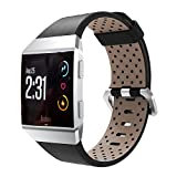 Watchband YuStar Fitness Tracker Accessoires New Replacment Genuine Leather Breathable Smart Watch Band Strap Bracelet For Fitbit Ionic Heart Rate Tracker