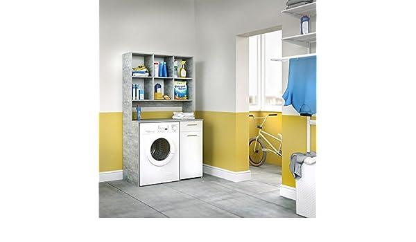 Animalmarketonline mobile rack für waschmaschine xxl beton: amazon