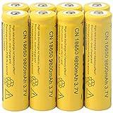 STRIR 8pcs 3.7V 18650 Pilas recargables Li-Ion Batería de 9800mAh Litio Recargable Baterías