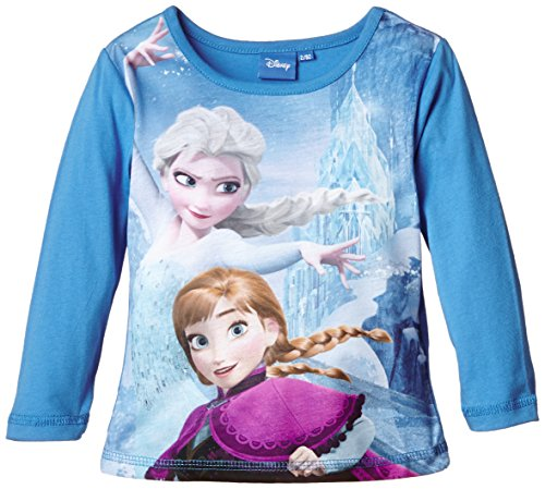 Disney 45FZANT105 LS T-Shirt-T-shirt Bambine e ragazze    blu 4 anni