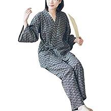 Traje de Pijamas de Traje de Pijamas de Estilo japonés Batas para Mujer [Tamaño L