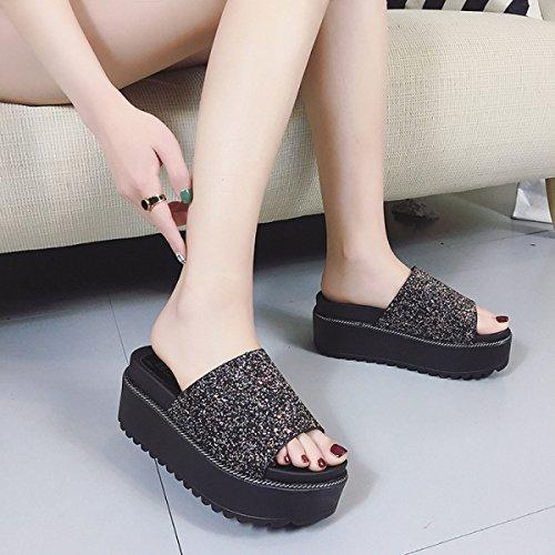 Sandalen Damen Sandalen Hausschuhe Outdoor-Watschuhe Black