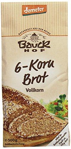 Bauckhof 6-Korn-Brot Vollkorn Demeter, 6er Pack (6 x...