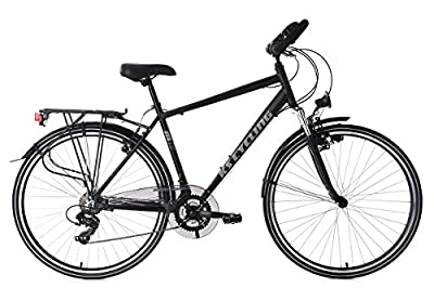 KS Cycling Herren Trekkingrad Alu-Rahmen Metropolis RH 56 cm Multipositionslenke Fahrrad, Schwarz, 28