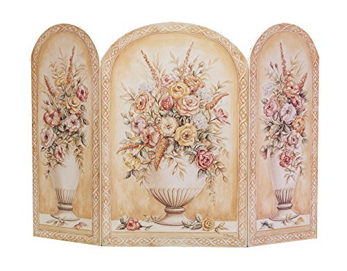 The Stupell Home Decor Collection 3 Panel Decorative Fireplace Screen, Yellow and White Vase, 44 by 31 by 0.5-Inch by The Stupell Home Decor Collection -