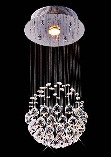 Saint Mossi® Lámpara de techo de cristal moderno de lujo de lujo con lámpara de techo Luces 1 Bombilla GU10 LED requerida