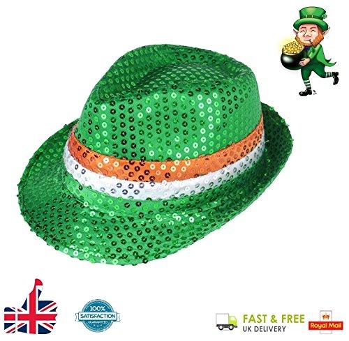 letten Hat Irische Flagge St. Patrick 's Day Neuheit Plüsch Clover Fancy Kleid von Lizzy® ()