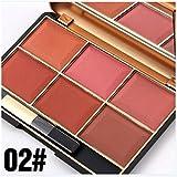 FantasyDay® Professionale 6 Colori Polvere Fard Viso Palette Trucco #2 - Adattabile a Uso Professionale che Privato